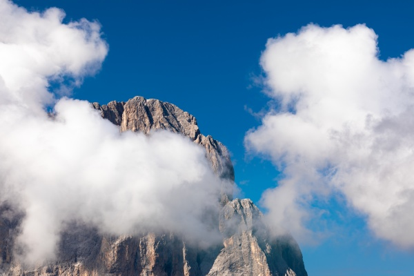 summit of langkofel mountain sassolungo