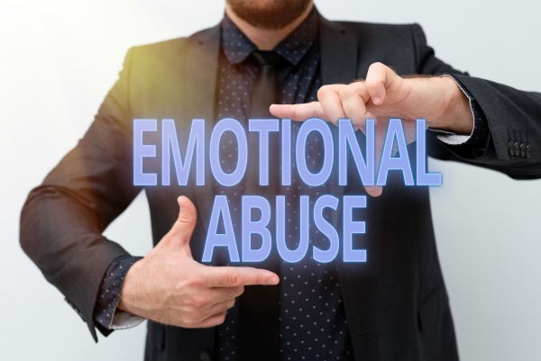 sign displaying emotional abuse business overview