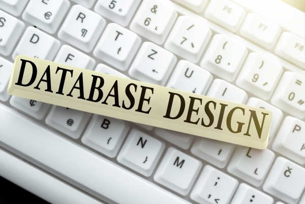 text sign showing database design concept
