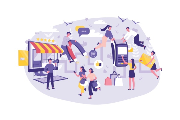 business concept customer journey planning support