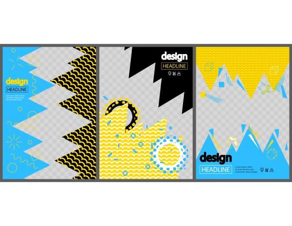 modern yellow blue and black design