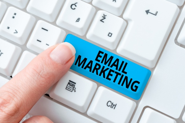 sign displaying email marketing business concept