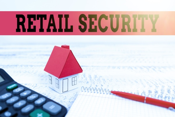 text caption presenting retail security word