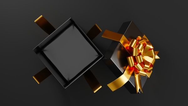 black friday sale concept gift