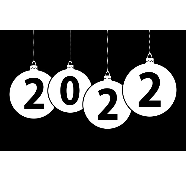 new year 2022 christmas bubbles