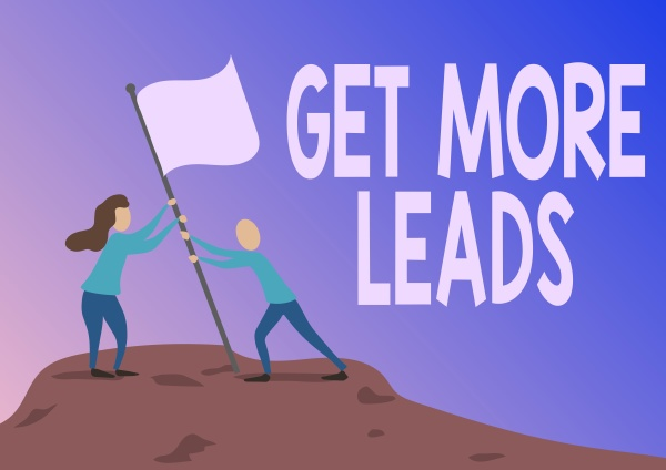 conceptual display get more leads business