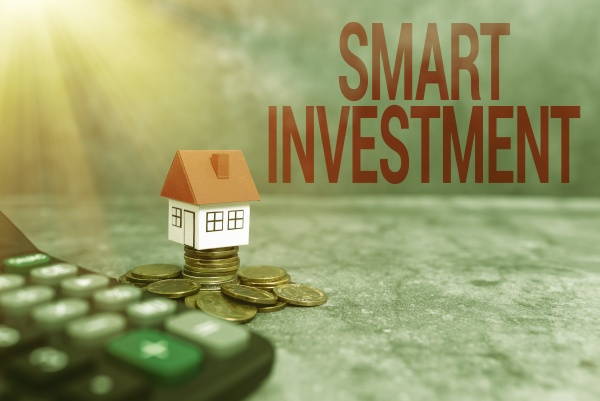 text sign showing smart investment word