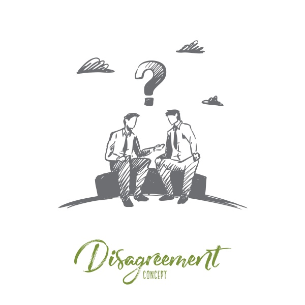 disagreement business people conflict concept hand