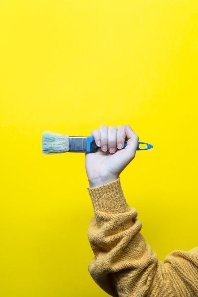 brush in hand