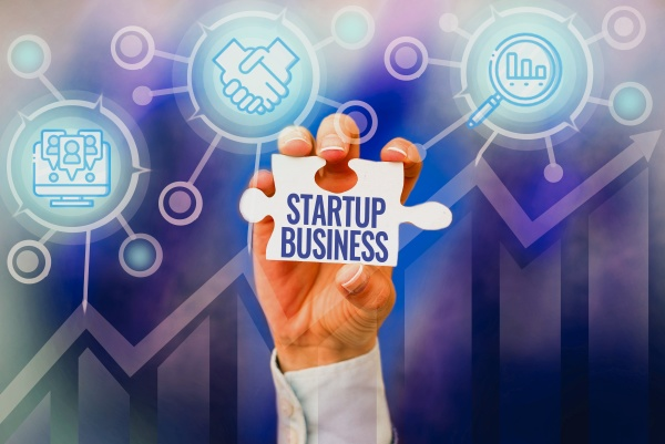 text sign showing startup business business