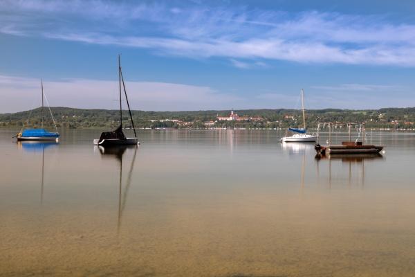 summer morning at lake ammersee