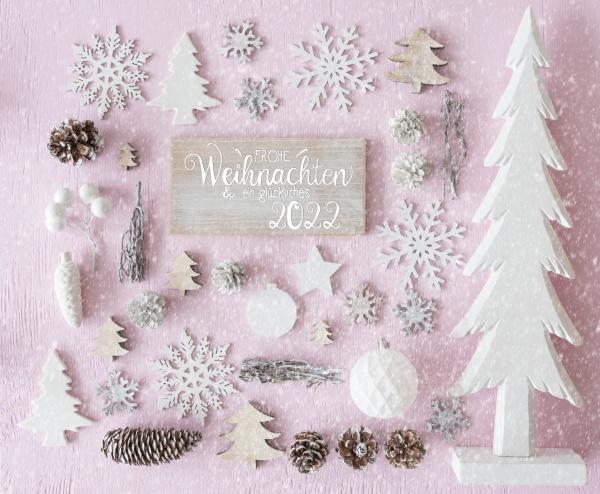 white christmas decoration tree glueckliches 2022