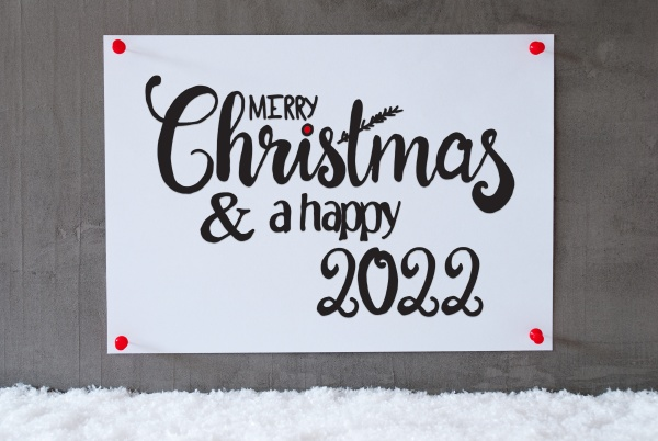 white paper sign snow merry christmas
