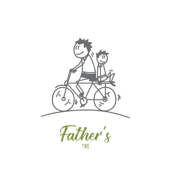 fathers time designer concept hand drawn