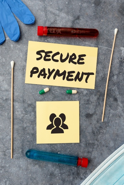 text sign showing secure payment word