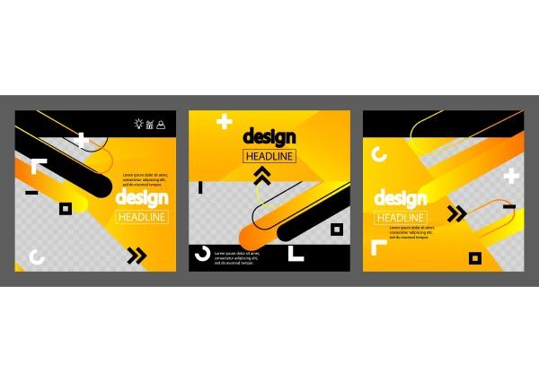 modern yellow white and black design