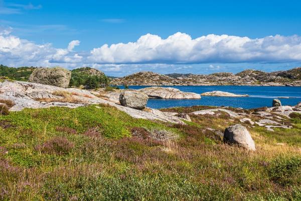 landscape on the archipelago island skjernoya