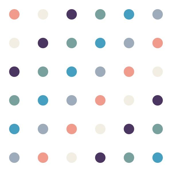 polka dot pattern orange cream purple