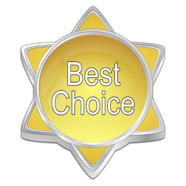 best choice button golden 3d