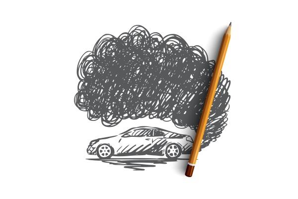 pollution concept hand drawn sketch