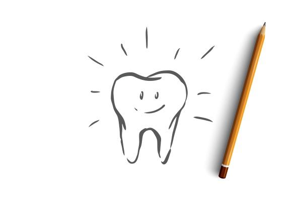 cleaned tooth care dental health hygiene