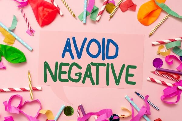 inspiration showing sign avoid negative internet