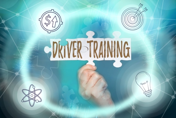 hand writing sign driver training internet
