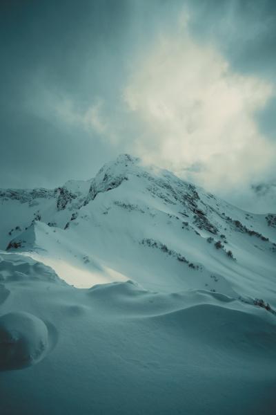 panorama of snowy mountains caucasus mountains