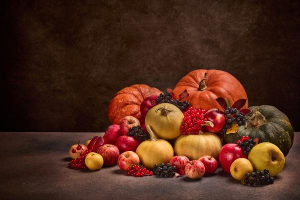 autumn harvest happy thanksgiving day halloween