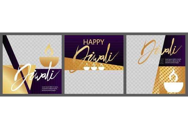modern diwali design for presentations templates