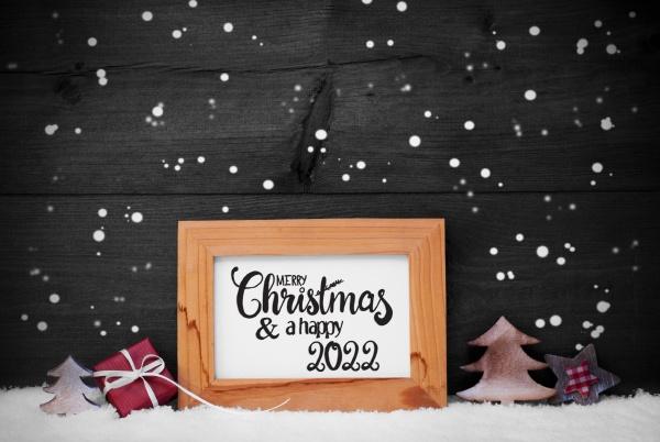 frame gift tree snow snowflakes merry