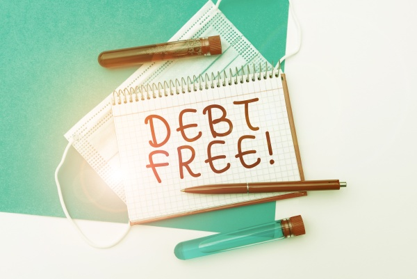 conceptual caption debt free word for