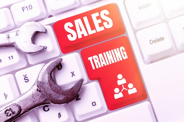 text showing inspiration sales training business