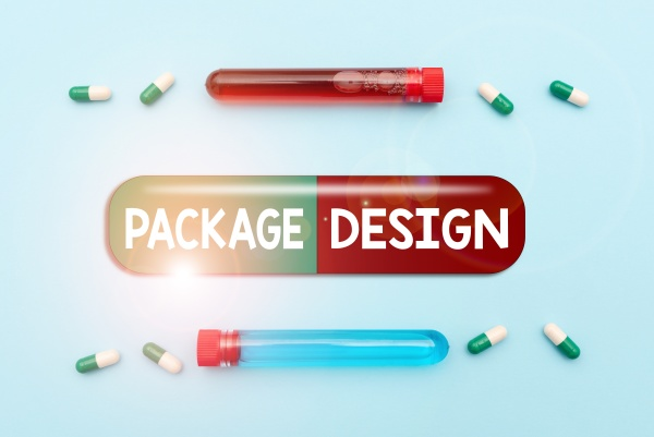 text sign showing package design business