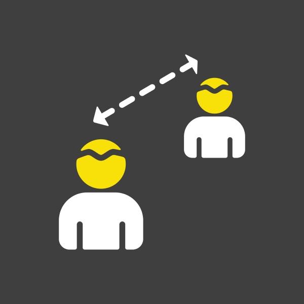 social distancing icon vector quarantine