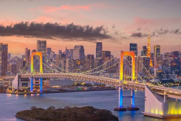 downtown tokyo city skyline cityscape of