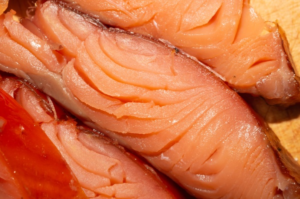 red fish macro smoked salmon