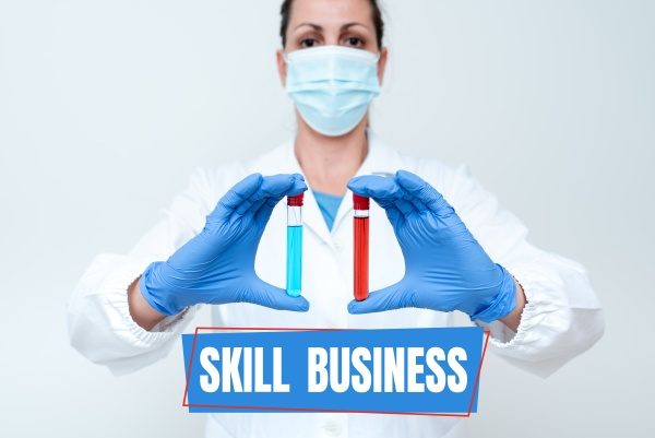 text sign showing skill business