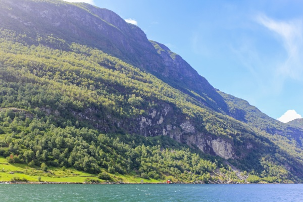 norwegian beautiful mountain and fjord landscape