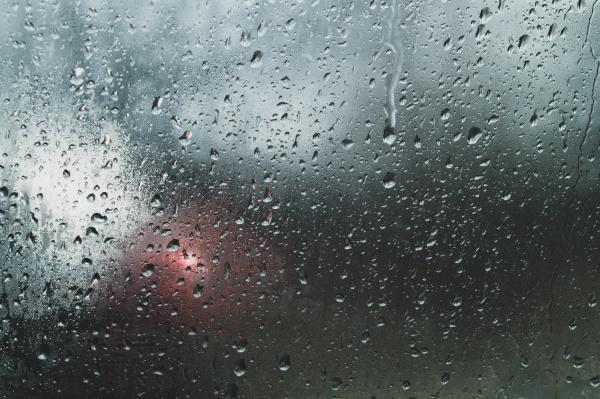 raindrops on glass heavy rain