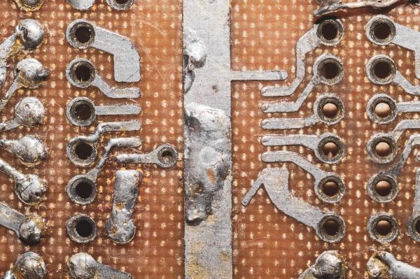 handmade circuit board industrial background textolite