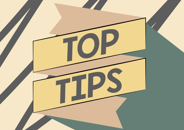 text caption presenting top tips business