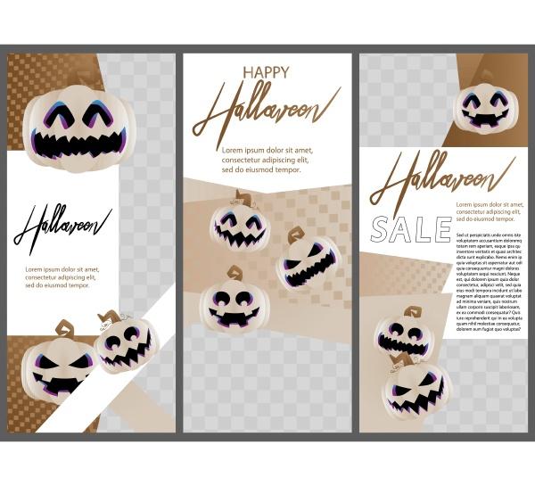 modern halloween design for presentations templates