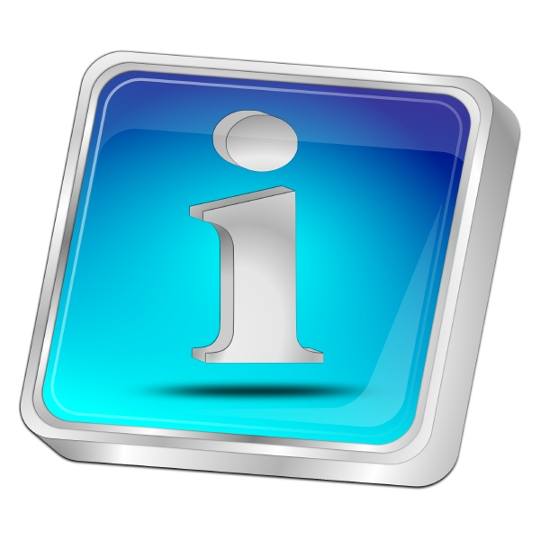 information button blue 3d illustration