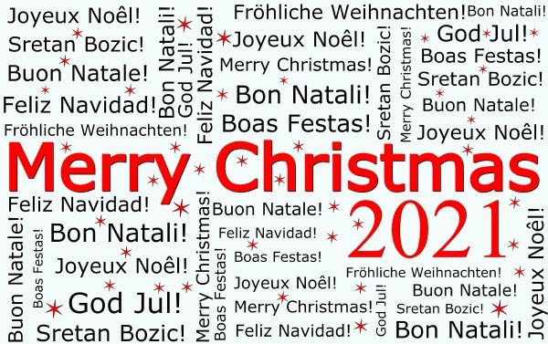merry christmas 2021 wordcloud illustration
