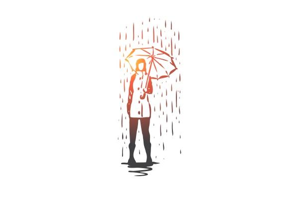 autumn rain umbrella