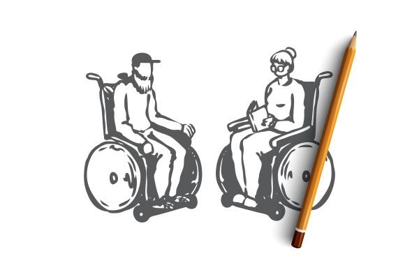 old senior wheelchair nursing age concept