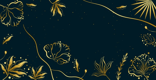 abstract trendy panoramic background with floral