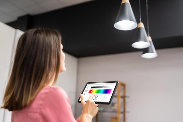 smart light control using tablet