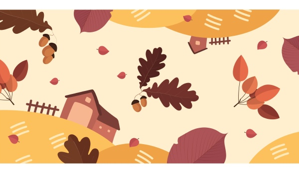 autumn background leaf illustration season colorful